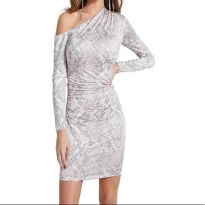 COPY - Guess NWT pink gray snakeskin dress